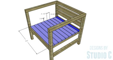 Slat Chair Plans by Diy Furniture Plans To Build A Modern Outdoor Chair