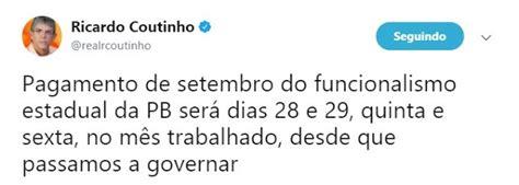 pagamento mes agosto estado paraiba rn politica em dia governador da para 205 ba paga setembro