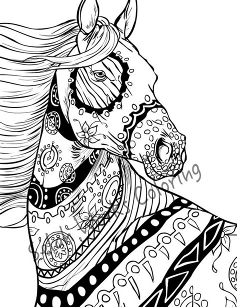 horse coloring pages for adults pinterest the world s catalog of ideas