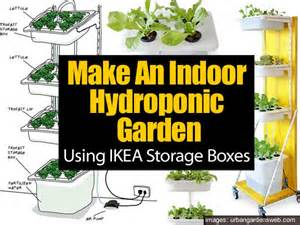 Ikea Hydroponics Garden by Using Ikea Storage Boxes To Build Indoor Hydroponic Gardens