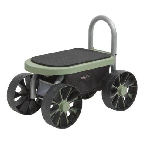 Garden Seat With Wheels by A Rolling Garden Seat Makes Gardening Easier