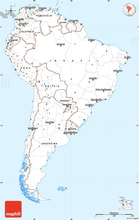america map simple gray simple map of south america single color outside