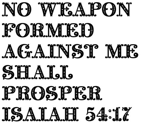 no weapon formed against me shall prosper tattoo quot no weapon formed against me shall prosper isaiah 54 17