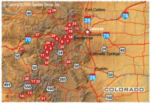 map of ski resorts colorado ski resorts colorado map