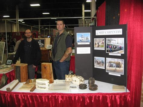 the woodworking show representing the guild at the woodworking show