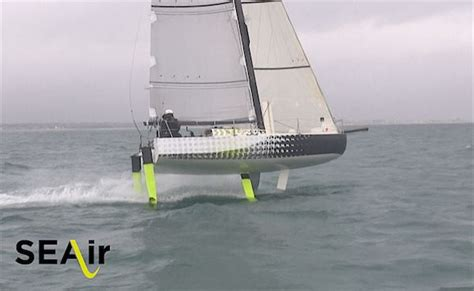 hydrofoil mini boat foiling monohulls flying minis and the new figaro 3