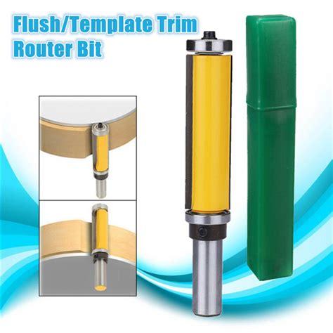 router bit template cutter 1 2 inch shank flush template trim router bit woodworking