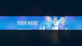 football youtube banner template psd file