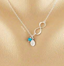 Infinity Jewelry With Birthstones S Day Necklace Infinity Necklace Delicate Initial