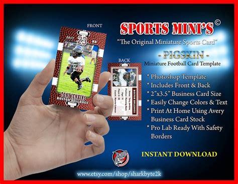 football card template photoshop miniature football card photoshop template for printing on