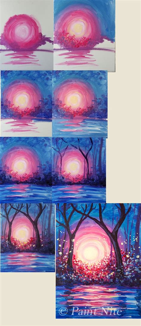 paint nite at home best 25 beginner painting ideas on sunset