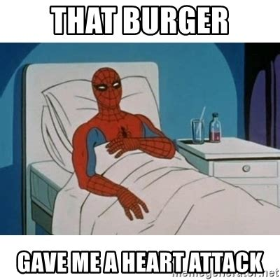 Spiderman Cancer Meme Generator - that burger gave me a heart attack spiderman cancer
