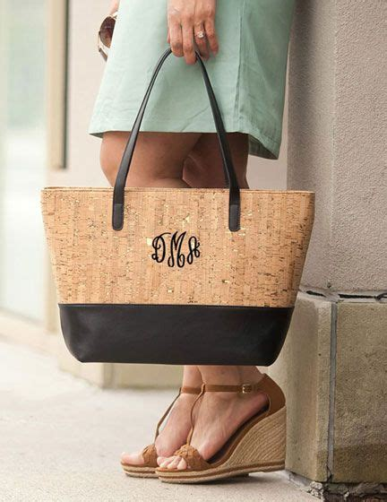 monogrammed embroidered tote bags