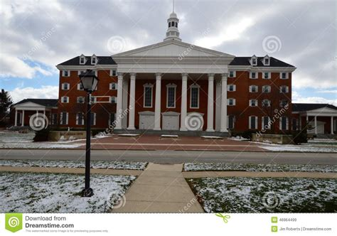 greek revival architecture in illinois billy graham center editorial stock image image 46964499
