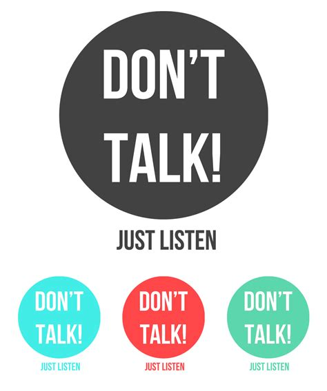 5 Donts When Talking by Don T Talk Just Listen By Edgarreyesstudio On Deviantart