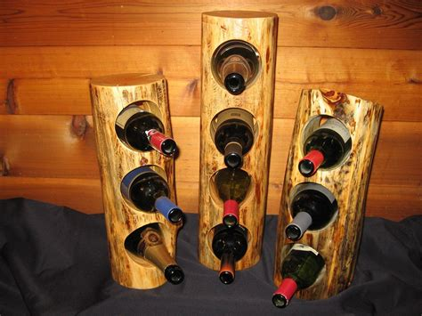 Handmade Wine Racks - handmade log wine rack by against the grain woodworking