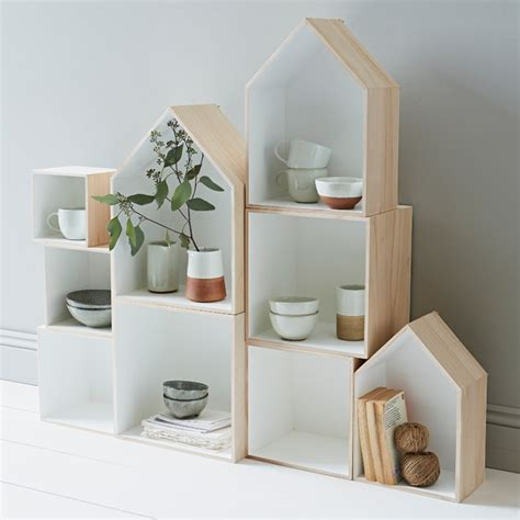 Wall Shelf Boxes by Set Of 3 House Box Shelves Display Wall