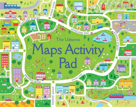 map activity maps activity pad at usborne children s books