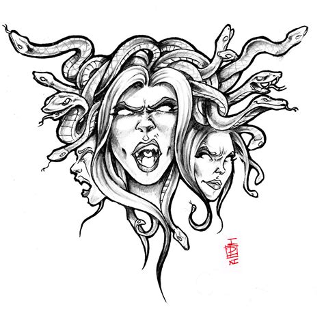 medusa head tattoo design medusa drawing by pictures to pin on tattooskid