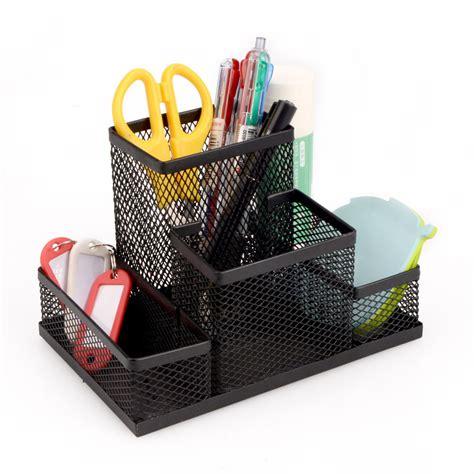 Pen Holder Tempat Pensil black metal mesh office desktop organizer pen pencil box stationery holder ebay