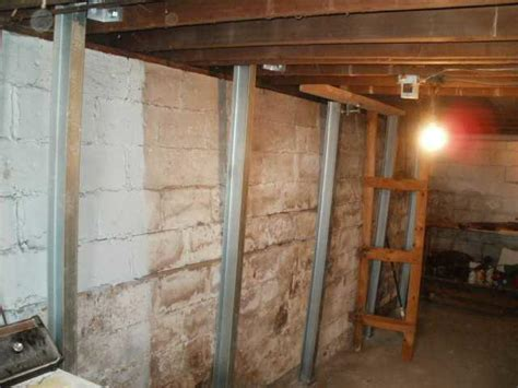 basement wall support i beams ayers basement systems foundation repair photo album wyoming mi home installs powerbrace