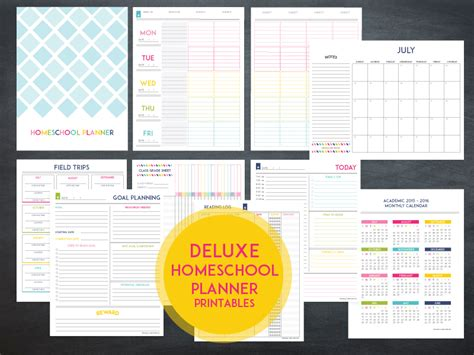 free printable homeschool teacher planner lesson planner template the deluxe homeschool planner