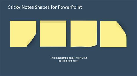 Sticky Notes Powerpoint Template Slidemodel Editable Post It Note Template