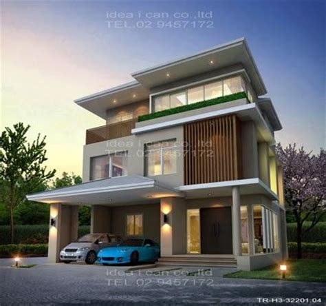 modern 3 storey house plans the three story home plans 3 bedrooms 4 bathrooms tropical style living area 322 sq