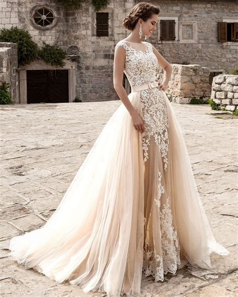 White Rock Wedding Dresses by Popular Detachable Wedding Dress Buy Cheap Detachable
