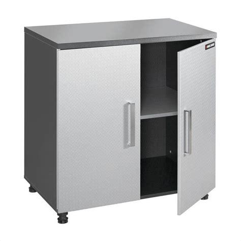 Garage Cabinets Legs Black Decker 2 Dr Base Charcoal Stipple Silver Single