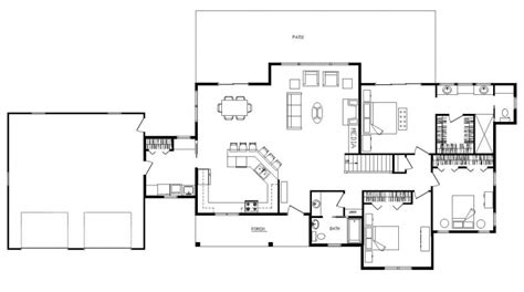 open concept cabin floor plans modern ranch style homes open concept ranch floor plans