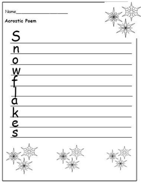 snowflake writing template free printable writing templates to encourage