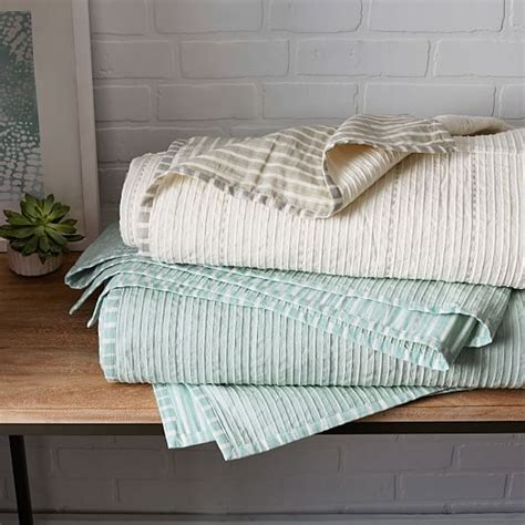 Striped Coverlet striped coverlet shams west elm