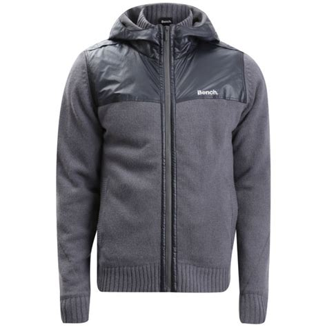 bench jacket mens bench men s klutz knitted jacket grey mens clothing