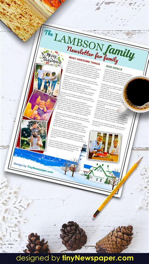 family newsletter template google docs  letter paper