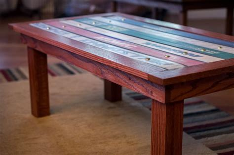 coffee table with ski top ski woodcraft