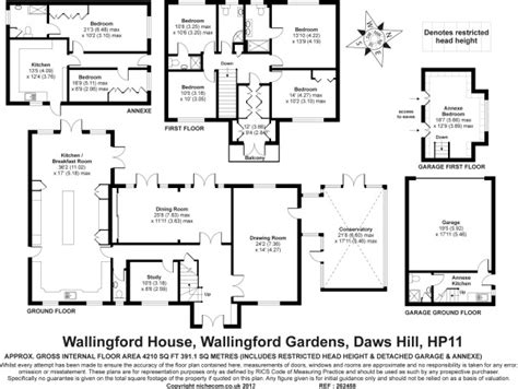floor plan of the secret annex 7 bedroom detached house for sale in daws hill buckinghamshire zx99