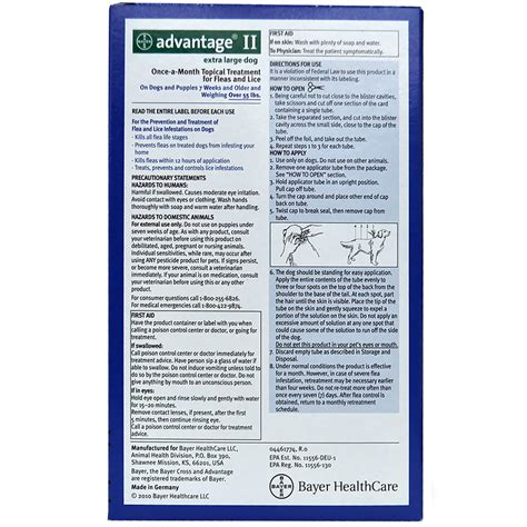 advantage 2 for dogs 4 month advantage ii flea large for dogs 55 lbs