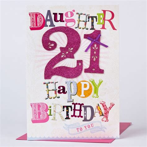 Things To Write On A 21st Birthday Card 21st Birthday Card Happy Birthday To You Only 163 1 49
