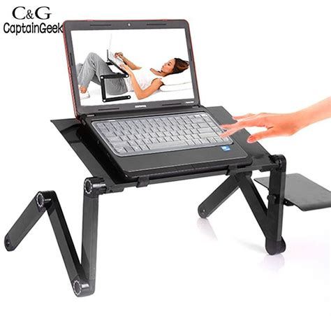 laptop desk with fan new 360 degree adjustable foldable laptop notebook desk table stand tray with fan us68