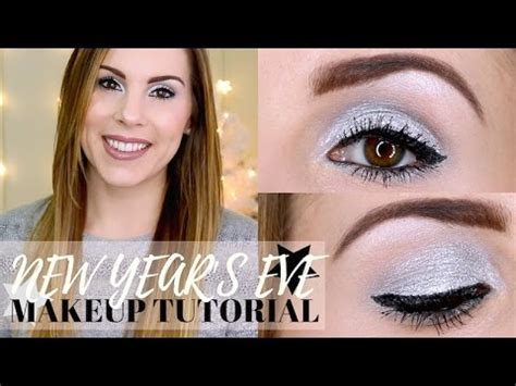 simple makeup for new year easy silver new year s makeup tutorial