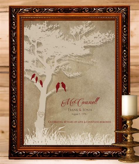 40th anniversary gift for parents 8x10 print 40th ruby anniversary wedding