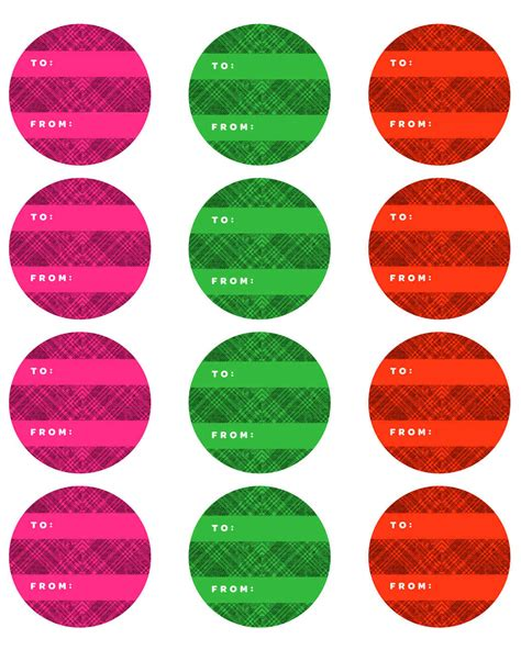 printable round christmas gift tags holiday gift tags and labels martha stewart