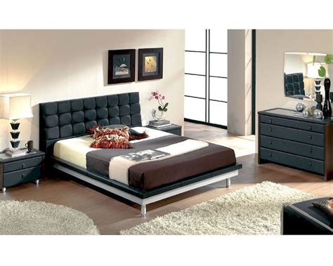 black contemporary bedroom set modern bedroom set in black made in spain 33b51