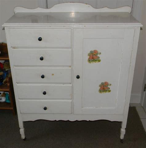Closet Dresser Combo by Vintage Antique Child Youth Dresser Drawer Closet Armoire Combo Shabby Chic Ebay