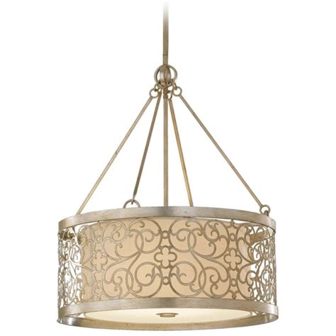 White Drum Pendant Light Drum Pendant Light With White Shade And Metal Overlay F2537 4slp Destination Lighting