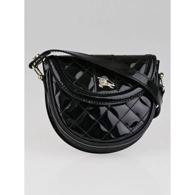 Burberry Quilted Mini Bag by Burberry Black Quilted Patent Leather Mini Crossbody Bag