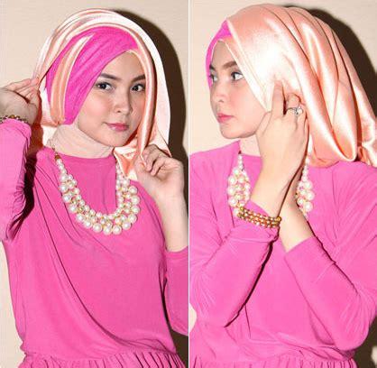 tutorial hijab segi empat bahan satin busana muslim trendy tutorial hijab segiempat dari bahan