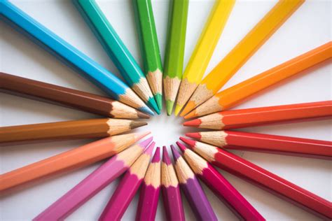 colorful pens colorful pens circle photo free