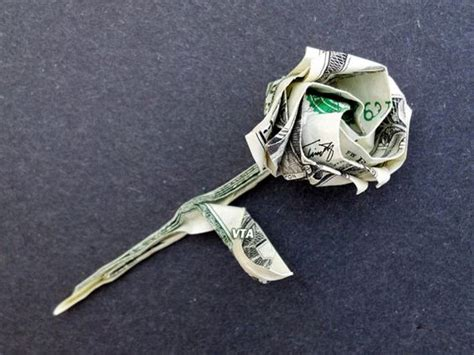 Money Origami Roses - details about beautiful money origami pieces many